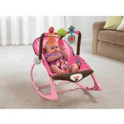 Pink Toddler Rocking Chair Rustic Childrens Table And Chairs Fisher Price Infant To Rocker Sleeper Owls Walmart Com