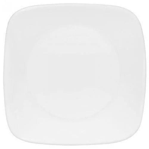 Corelle Square Round Plate, Pure White
