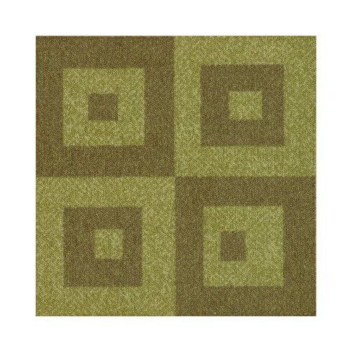 Milliken Legato Fuse Block Carpet Tile in Avocado