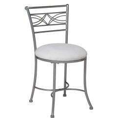 White Bedroom Vanity Chair Timber Ridge Lawn Chrome Stool Bath Makeup Decor Seat Padded