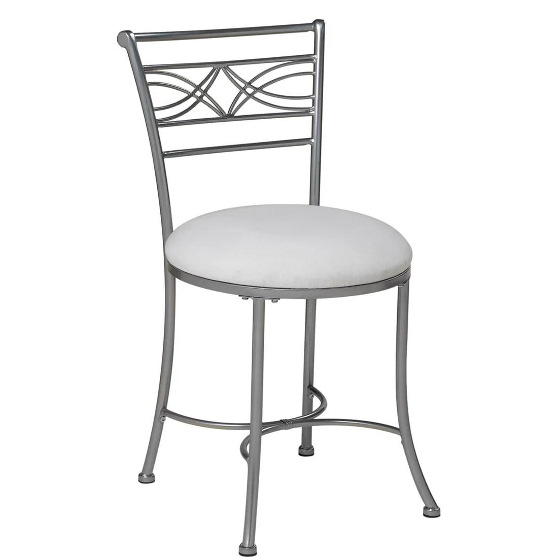 bathroom makeup chair cover rentals quad cities chrome vanity stool bedroom bath decor seat padded
