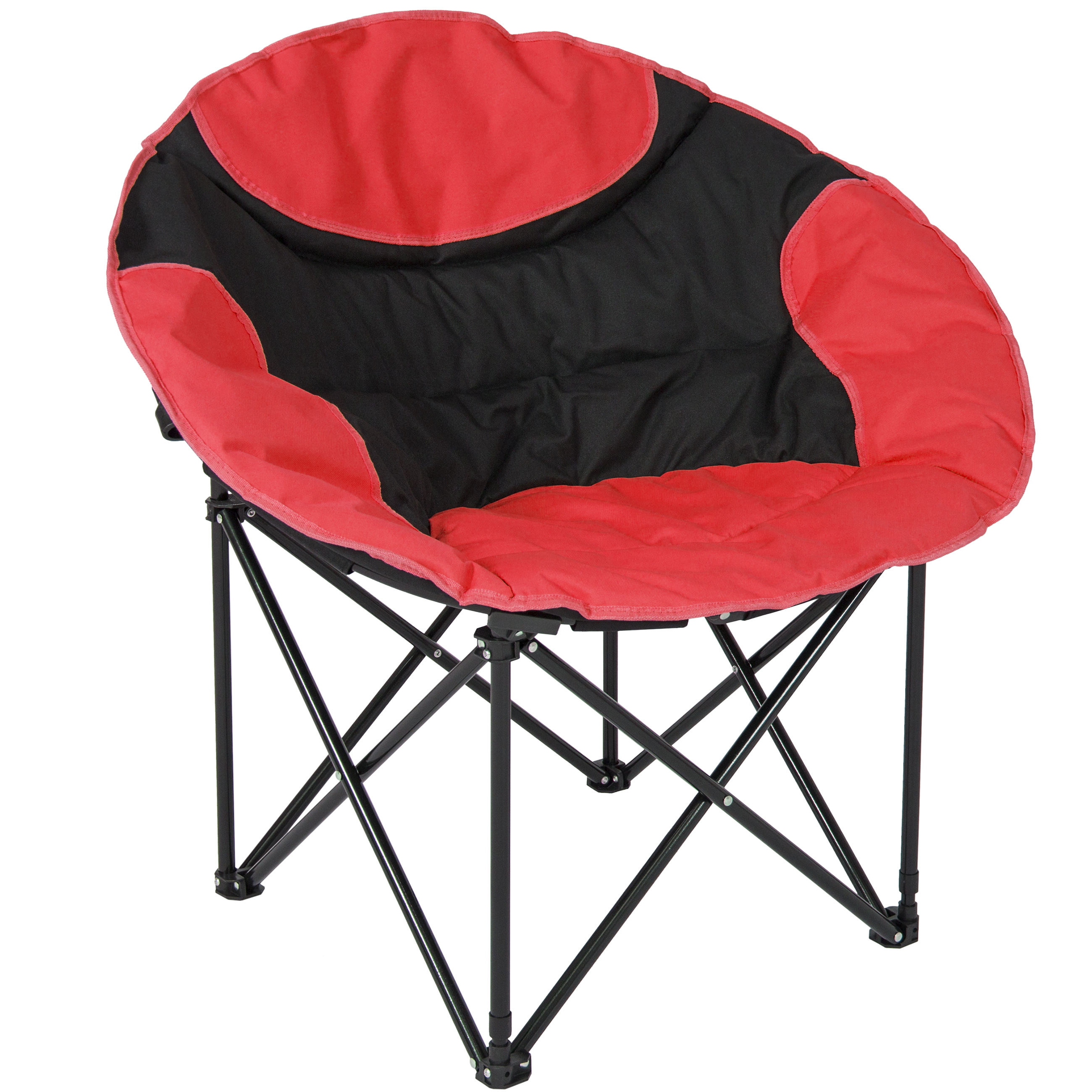 folding bag chair wood kids table and chairs best choice products outdoor foldable lightweight camping sports w large pocket carrying red walmart com