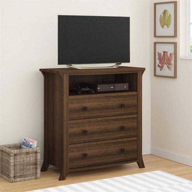 Oakridge 3 Drawer Media Dresser by Altra Homestead Oak Walmart