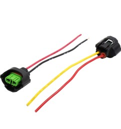 2pcs dc 12v wire harness socket car headlight bulb extension adapter connector [ 1100 x 1100 Pixel ]