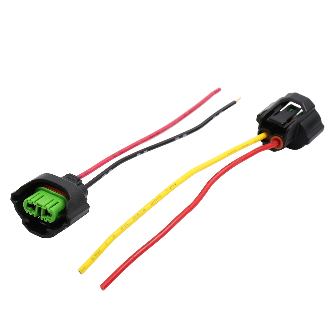 hight resolution of 2pcs dc 12v wire harness socket car headlight bulb extension adapter connector