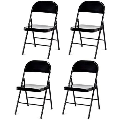 armless folding chair swing kijiji set of 4 steel frame heavy duty chairs walmart com