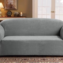 Gray Linen Sofa Slipcover Robert Michael Charles Store Sicily Furniture 1 Piece Form Fit