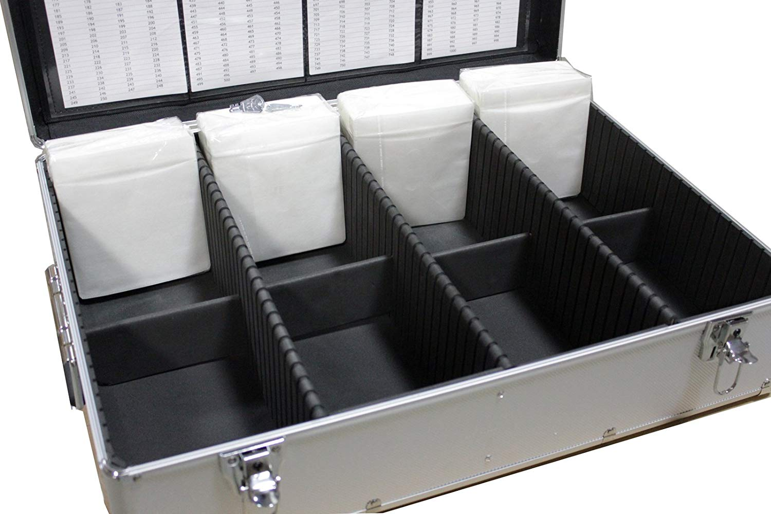 New Aluminum Like Cd Dvd Storage Case Mess Free Holds 1000 Discs Silver Box With Sleeves Without Hanger Megadisc Walmart Canada