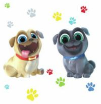 PUPPY DOG PALS 13 Giant Wall Decals Paw prints Stickers