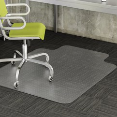 Heavy Duty Office Chair Mat For Carpet Ivory Spandex Folding Covers Floor Protector Under Computer Desk Beveled Edges All Sizes Pile