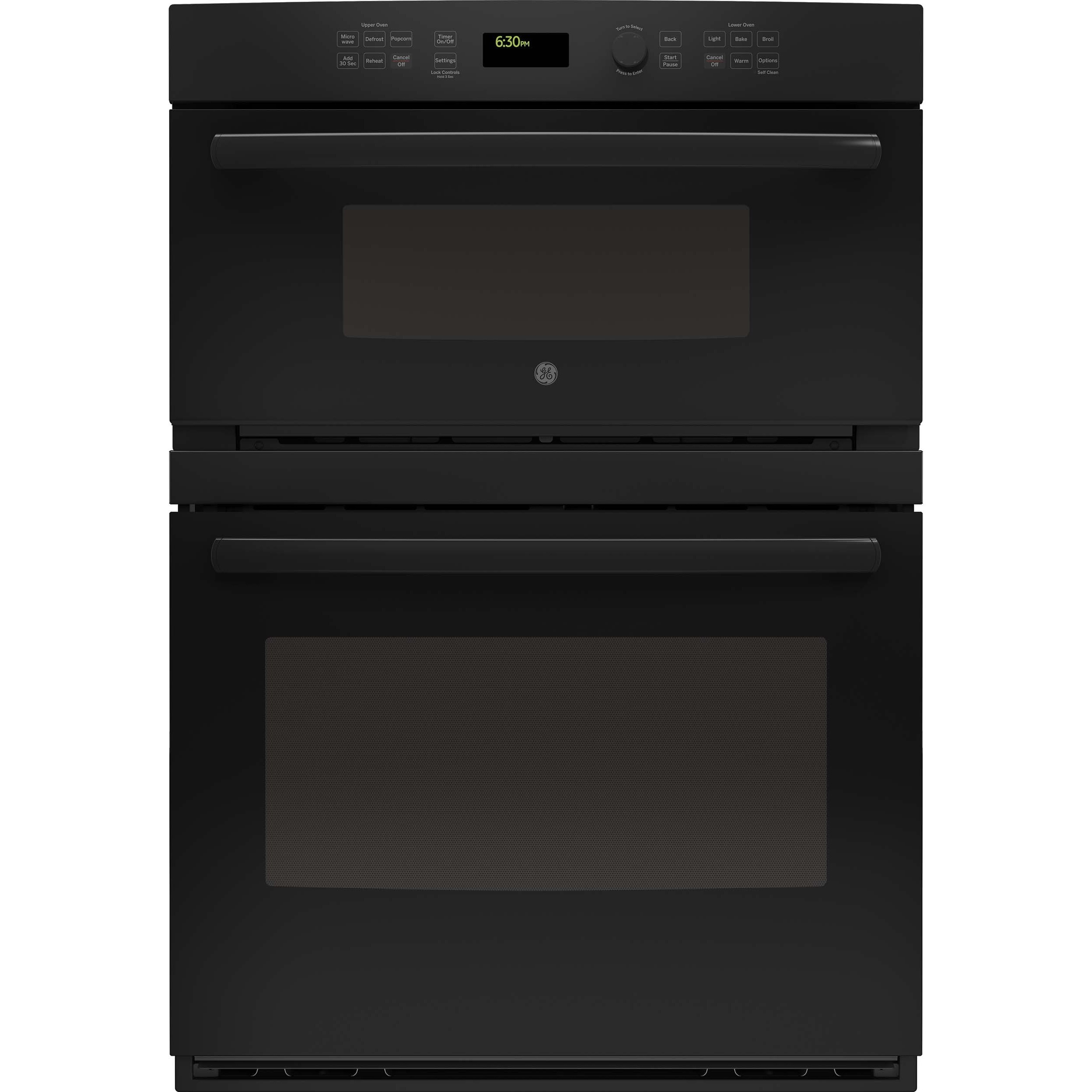 ge appliances jt3800dhbb 30 inch electric double wall oven microwave combo black
