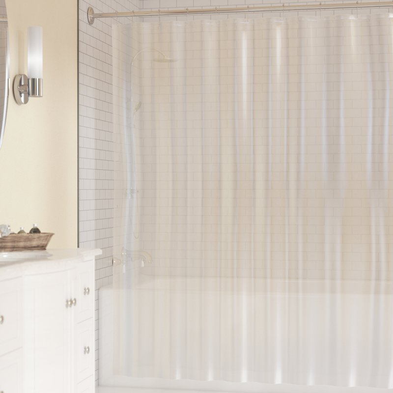 interdesign peva 3 gauge shower curtain liner mold mildew resistant pvc free clear 72 x 72 walmart com