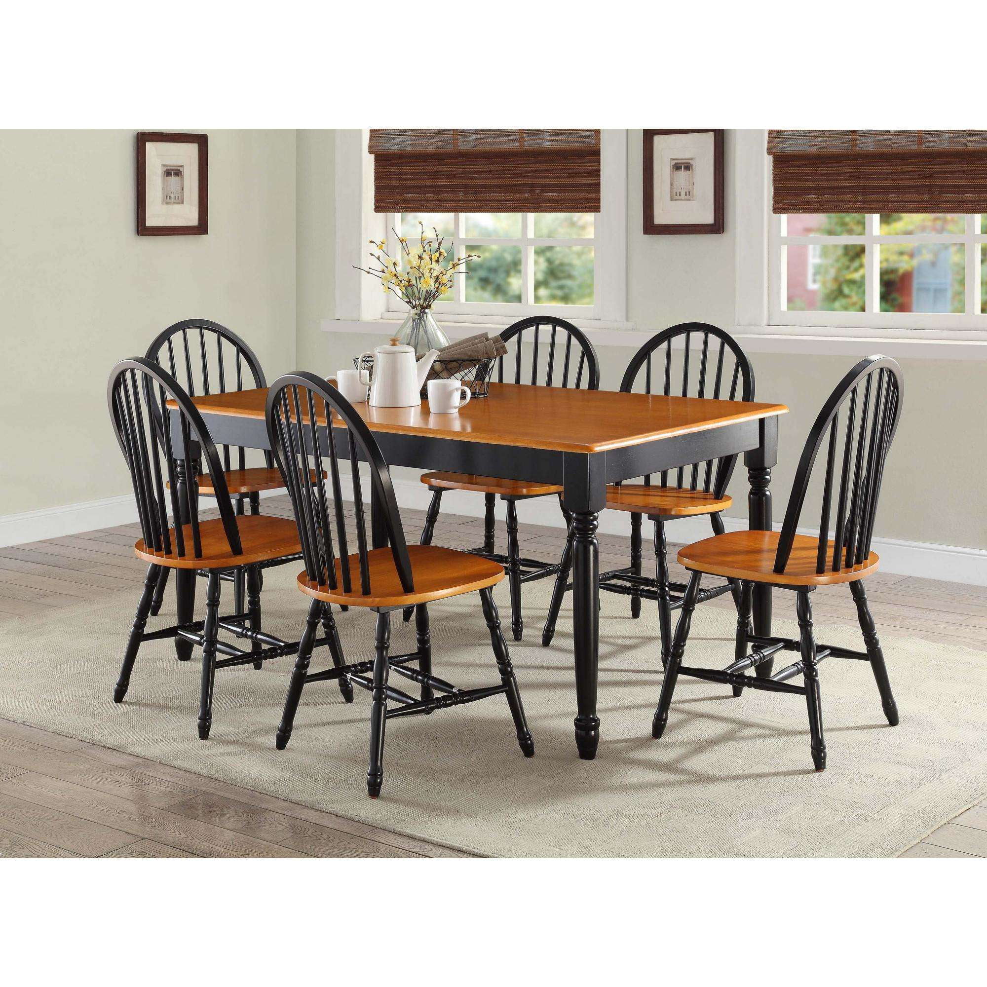 Windsor Chairs Black Details About Windsor Chairs Set 2 Piece Black Oak Turned Wood Legs Solid Seat Home Furniture