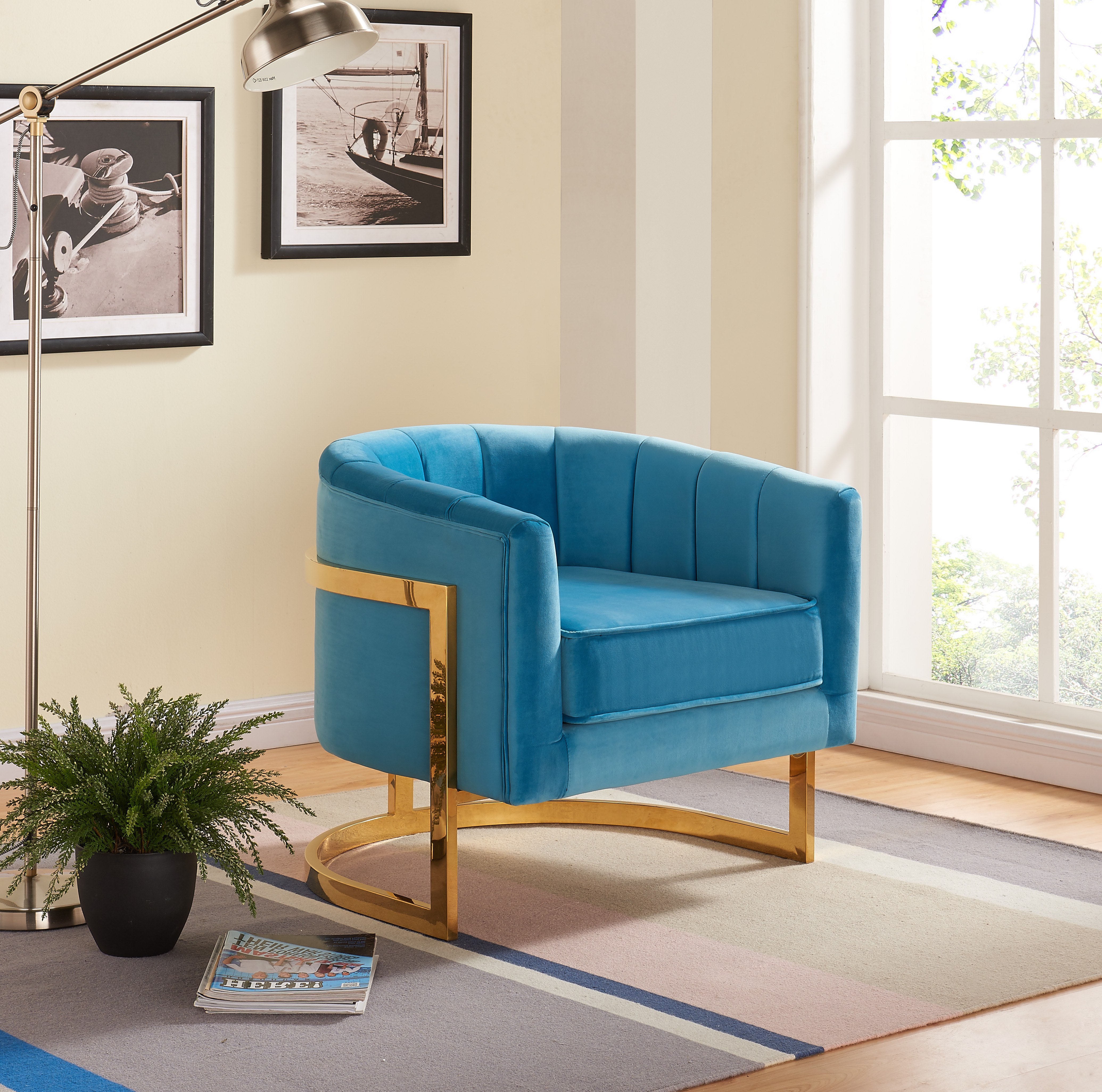 aqua accent chair my first carter velvet walmart