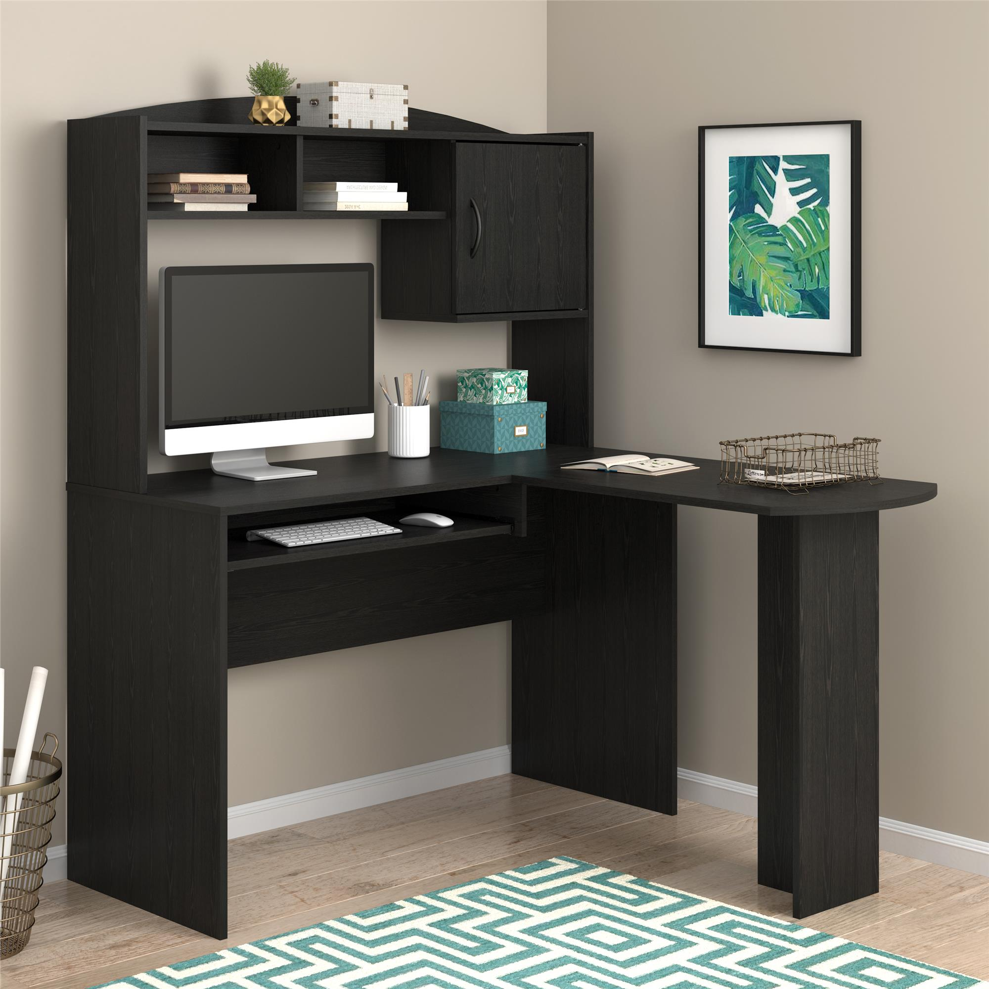 Mainstays LShaped Desk with Hutch Multiple Colors