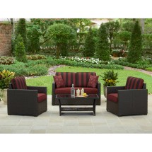 Homes And Gardens Rush Valley 4-piece Outdoor