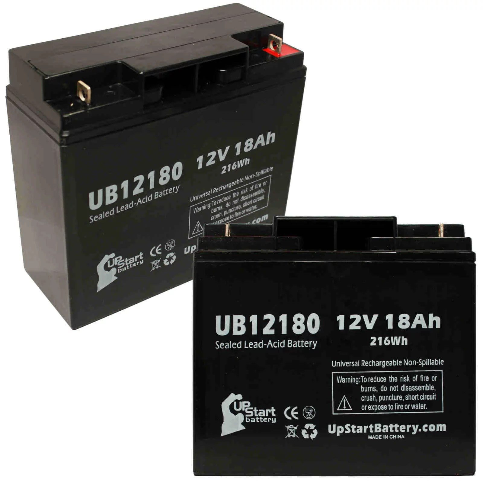 small resolution of 2x pack apc smart ups 1000xl su1000xl battery replacement ub12180 universal sealed lead acid battery 12v 18ah 18000mah t4 terminal agm