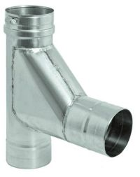 Stainless Steel Single Wall Boot Tee for 4 inch Vent Pipe