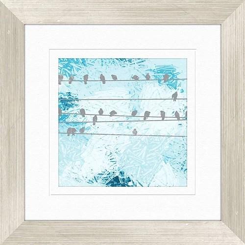 Bird Gathering Wall Decor Framed Art Walmart