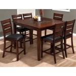 Jofran Baroque Brown 7 Piece Counter Height Dining Table Set Walmart Com Walmart Com