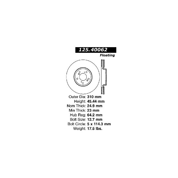 Go-Parts OE Replacement for 2004-2008 Acura TL Front Disc