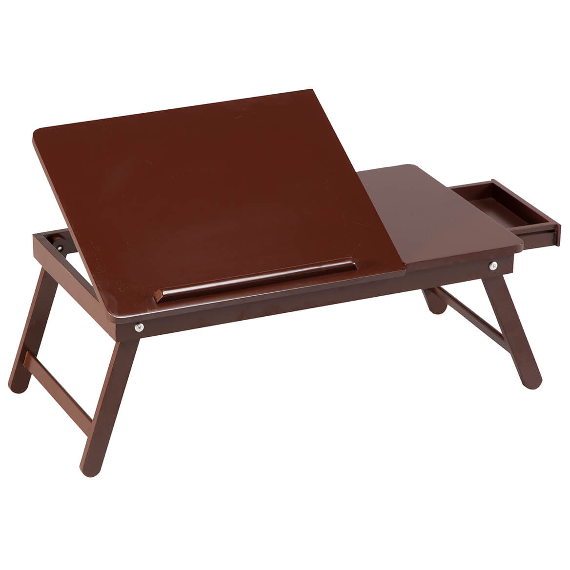 miles kimball oakridge foldable lap desk with storage drawer 23 75 l x 13 375 w x 9 75 h adjustable working surface of 16 5 l x 13 375 w