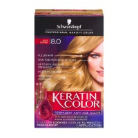 Schwarzkopf Keratin Color Permanent Anti-Age Hair Color 8 ...