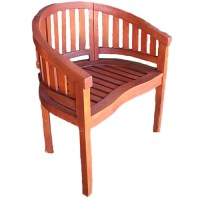 Wooden Curve-Back Chair - Walmart.com