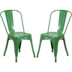 Green Metal Bistro Chairs Clear Chair Rail A Line Furniture Style 2 Walmart Com
