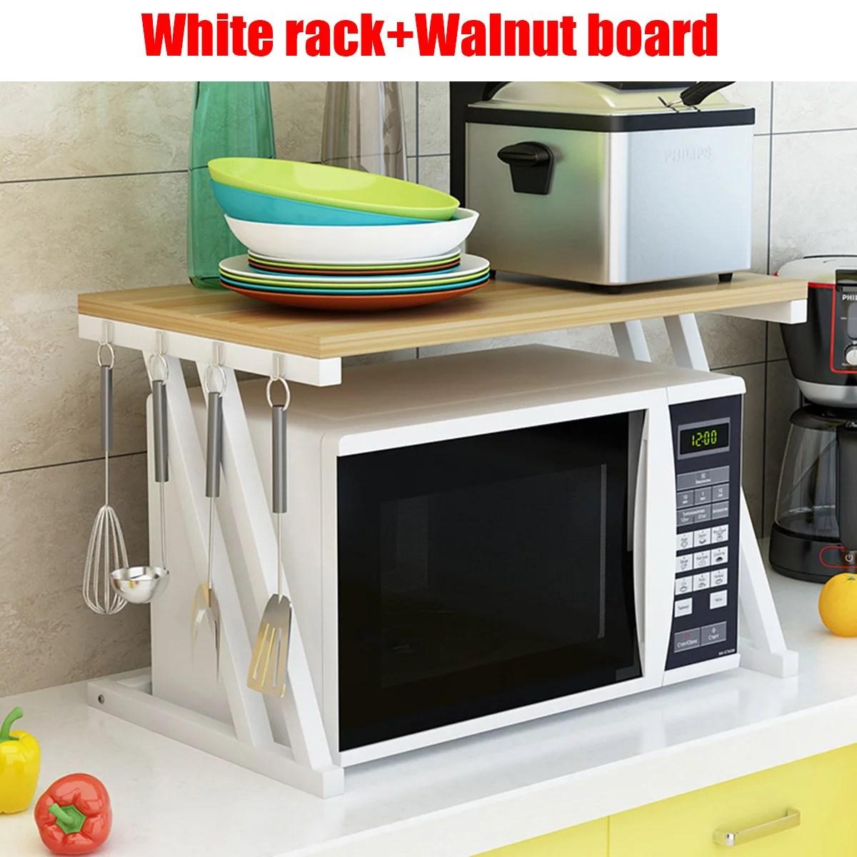 2 tier kitchen baker rack microwave oven stand storage cart workstation shelf
