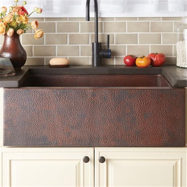 copper kitchen sinks what to use clean wood cabinets native trails cpk292 pinnacle sink antique