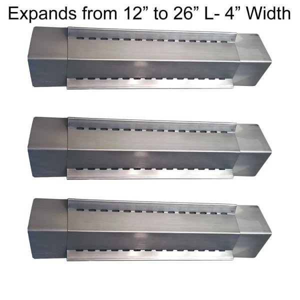 Set Of 3 Adjustable Stainless Steel Heat Plates Vaporizer Bars Grill King Aussie