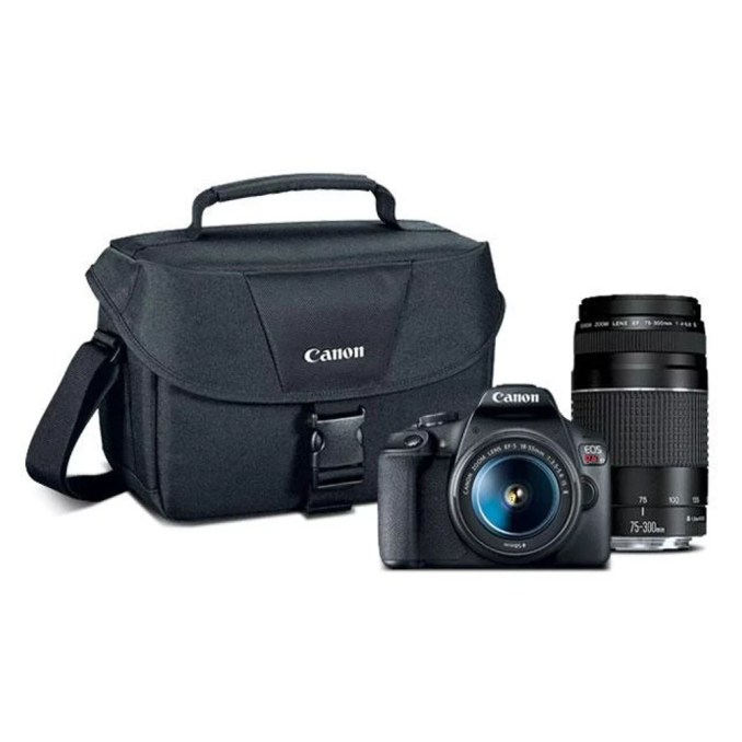 Canon EOS Rebel T7 EF18-55mm + EF 75-300mm Double Zoom KIT T7 EF18-55mm + EF 75-300mm Double Zoom KIT - Walmart.com - Walmart.com