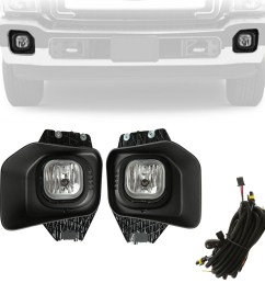 beamnova fog lights kit assembly with wiring harness relay and switch for ford super duty xlt f 250 f 350 f 450 f 550 2011 2012 2013 2014 2015 2016  [ 1002 x 1002 Pixel ]