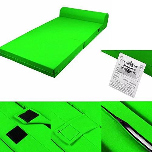 sleeper chair folding foam bed full size blue slipcovers magshion sized 5x46x74 inch lime green walmart com