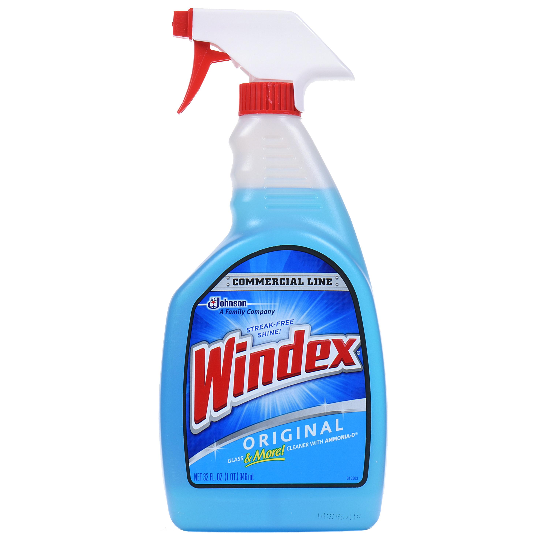 Windex Commercial Line Glass Cleaner Trigger Bottle Blue