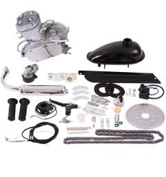 costway 80cc 2 stroke bicycle gasoline engine motor kit diy motorized bike silver walmart com [ 1200 x 1200 Pixel ]