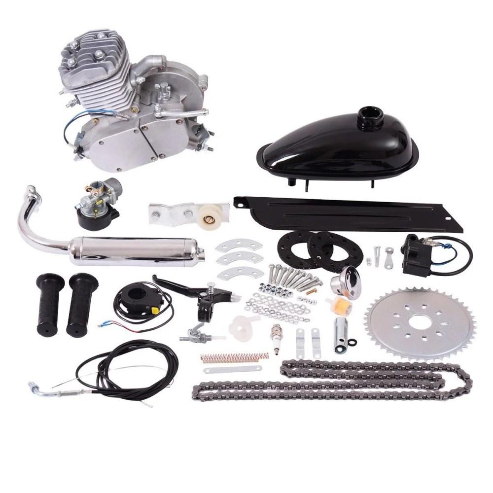 medium resolution of costway 80cc 2 stroke bicycle gasoline engine motor kit diy motorized bike silver walmart com
