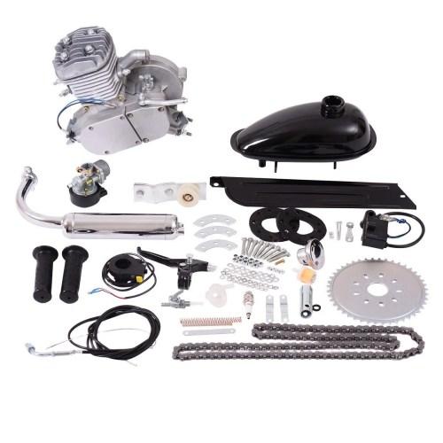 small resolution of costway 80cc 2 stroke bicycle gasoline engine motor kit diy motorized bike silver walmart com