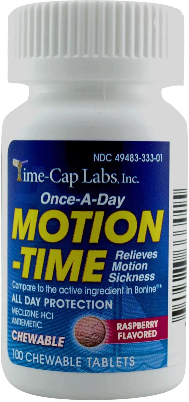 Meclizine 25 mg Generic Bonine Motion Sickness 100 Chew ...