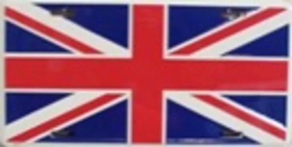 great britain flag license