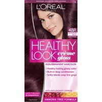 L'Oreal Healthy Look Creme Gloss Hair Color 4Br Dark Red ...