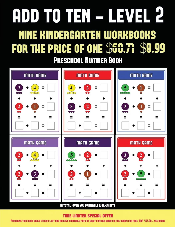 Preschool Number Book Preschool Number Book Add To Ten