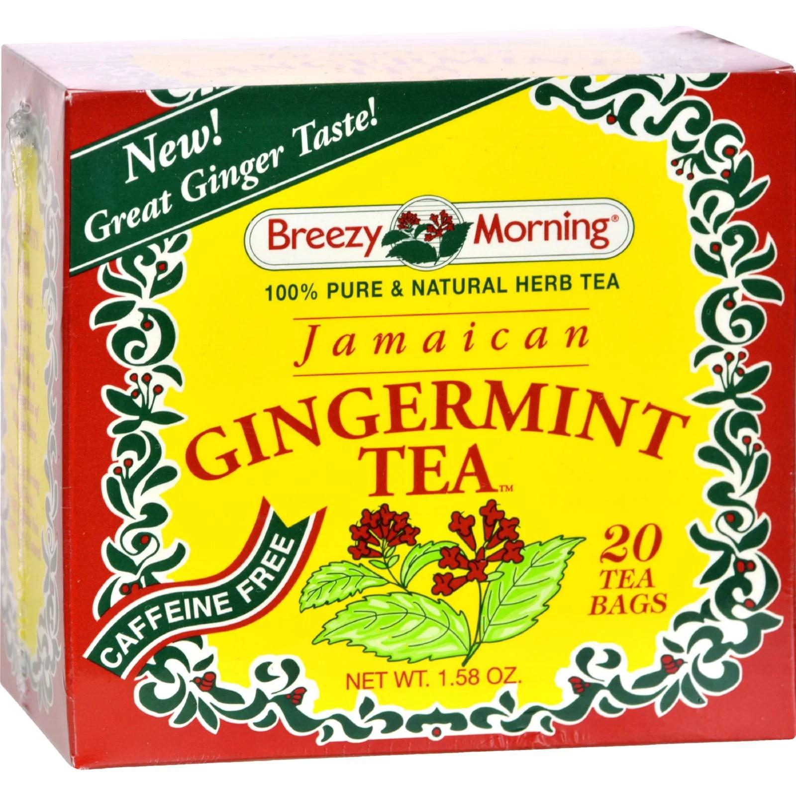 Breezy Morning Teas Jamaican Gingermint - 20 Tea Bags ...