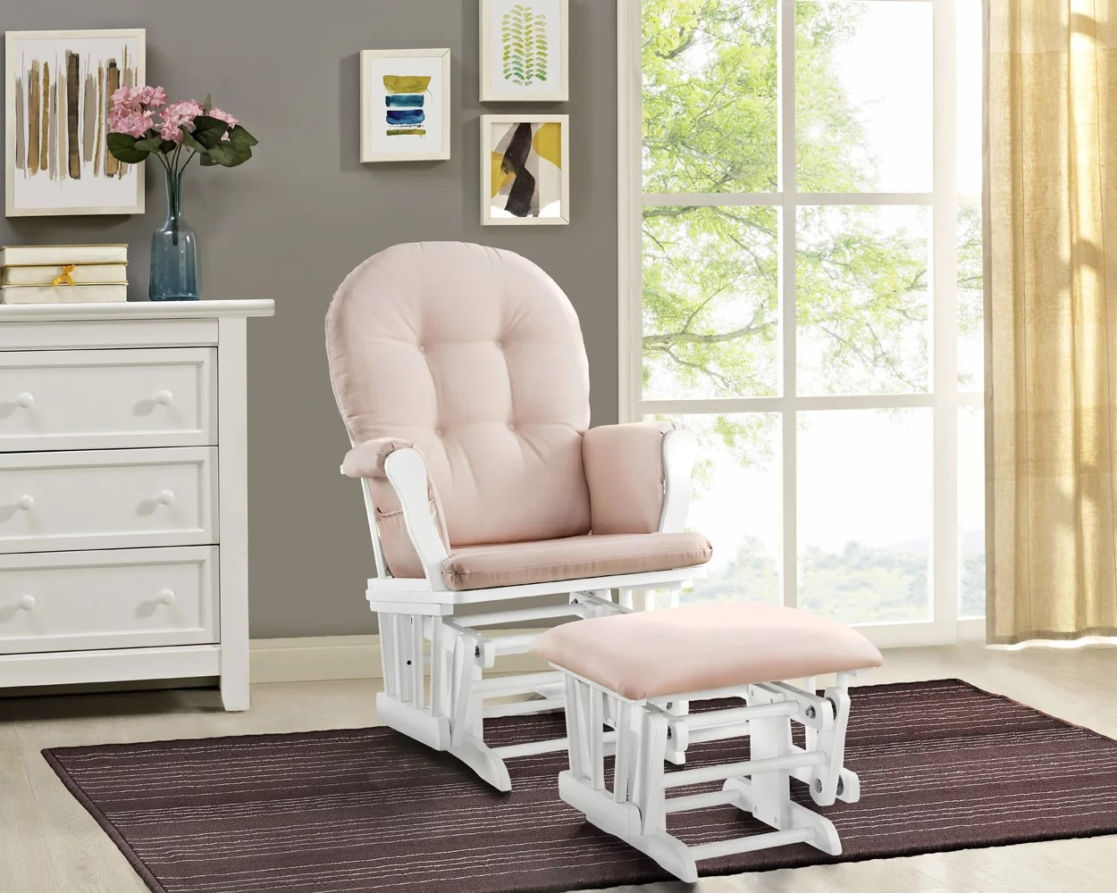 Baby Nursery Chairs Details About Nursing Chair Glider Rocker Ottoman Baby Furniture Rocking Seat Breast Feeding