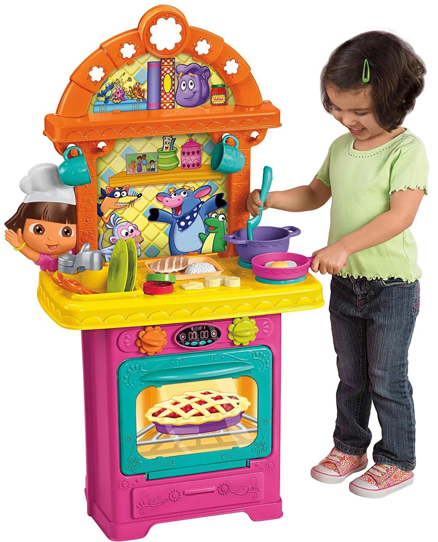 Dora Kitchen Toy : kitchen, Explor-nick, Fisher, Price, Cooking, Adventure, Walmart.com