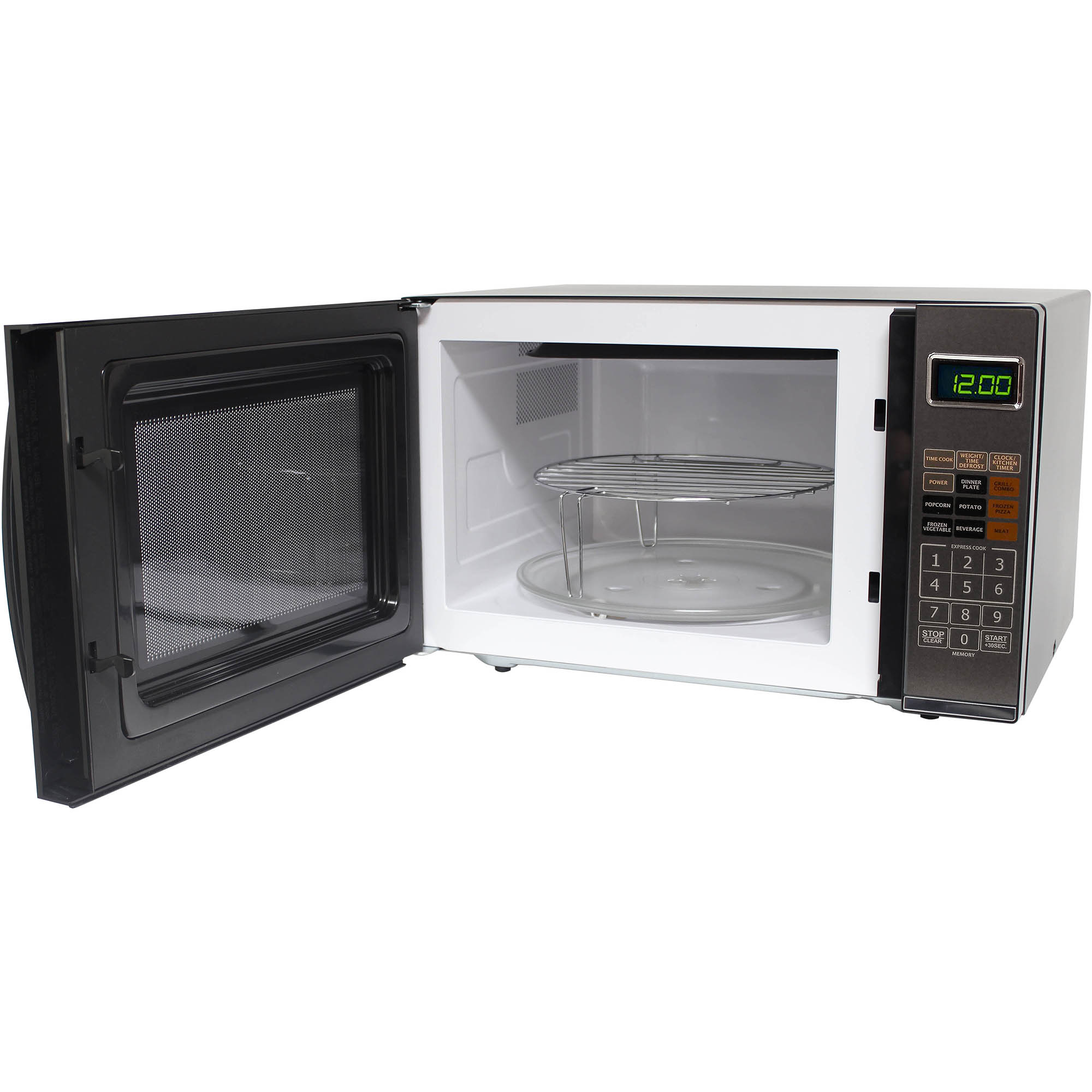 refurbished emerson 1 2 cu ft microwave with grill black