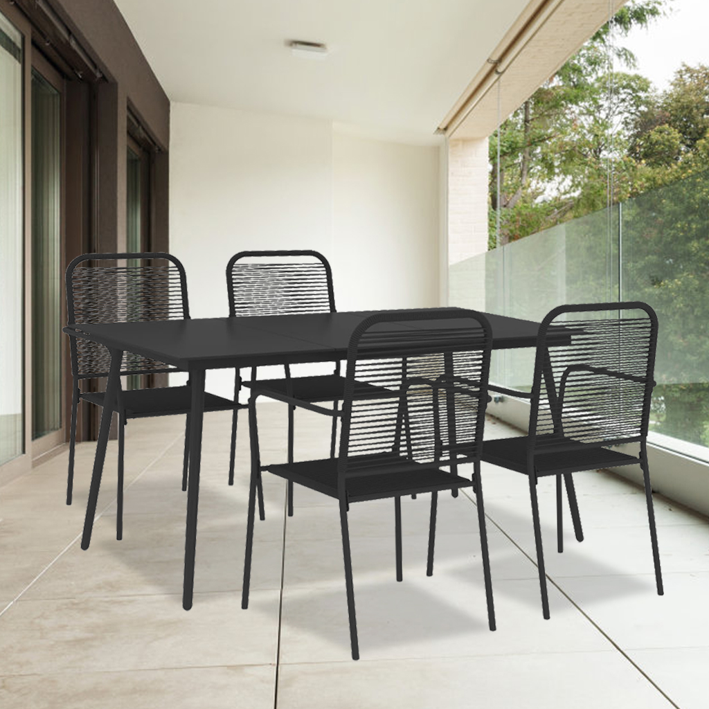 patio table and chair set 5 piece heavy duty metal patio dining set with rectangle table patio furniture conversation set outdoor furniture for