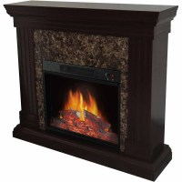 Decor Flame Electric Space Heater Fireplace with 44