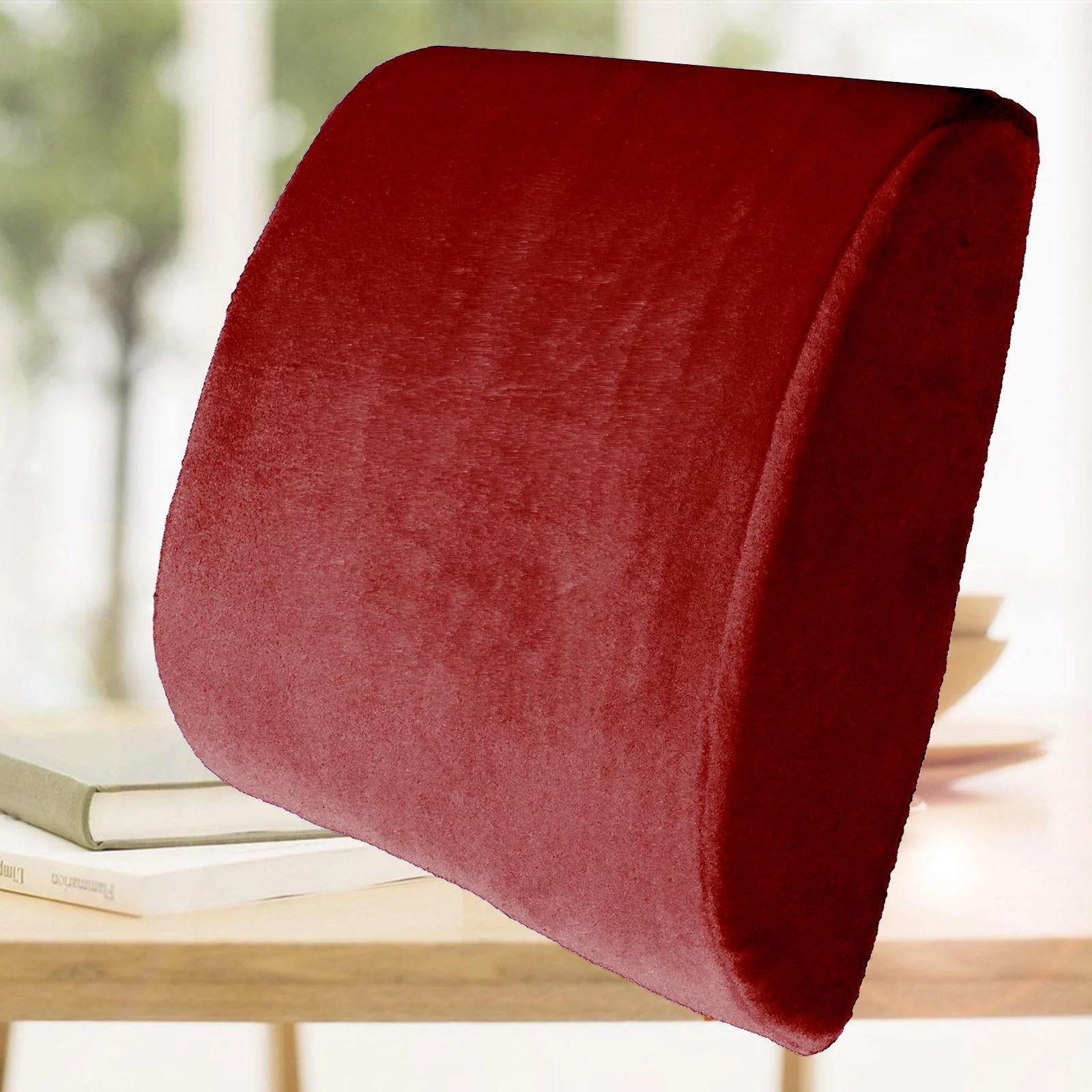 bookishbunny memory foam lumbar back support cushion pillow sciatica pain relief office chair car